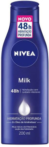 2 Unidades Nivea Hidratante Desodorante Milk 200ml