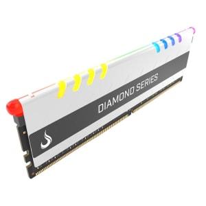 Memória Rise Mode Diamond RGB 16GB, 3000MHz, DDR4, CL17, Branco - RM-D4-16G-3000D-RGB