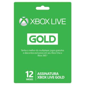 Xbox Live Gold - 12 Meses