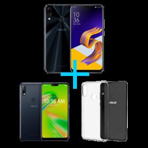 ZenFone 5 4GB/64GB Preto + Zenfone Max Plus (M2) 3GB/32GB Preto + Bumper para Zenfone Max Plus (M2)