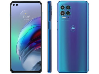 "Smartphone Motorola Moto G100 256GB Luminous Ocean - 5G 12GB RAM 6,7"" Câm. Quádrupla + Selfie Dupla"