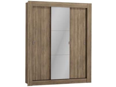 Guarda-roupa Casal com Espelho 3 Portas de Correr - Kappesberg City - Magazine Ofertaesperta