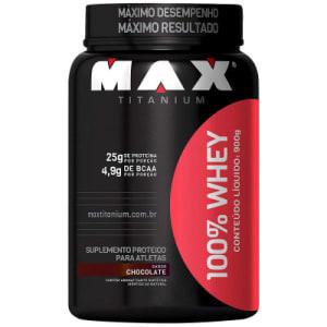 Whey Protein Max Titanium 100% Whey - Chocolate - 900g