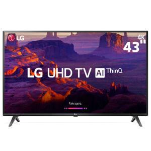 """Smart TV LED 43"""" Ultra HD 4K LG 43UK6310PSE com IPS, ThinQ AI, WI-FI, Processador Quad Core, HDR 10 Pro, HDMI e USB"""