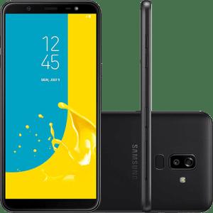 "Smartphone Samsung Galaxy J8 64GB Dual Chip Android 8.0 Tela 6"" Octa-Core 1.8GHz 4G Câmera 16MP F1.7 + 5MP F1.9 (Dual Cam) - Preto"