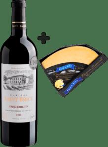 Château Saint Brice Saint-Émilion AOC 2018 + Queijo Parmesão