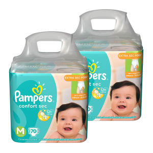Kit Jumbo de Fraldas Pampers Confort Sec Super