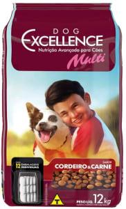 Dog Excellence Adulto Mult Carne e Cordeiro 12kg