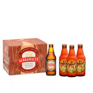 Compre 1 caixa com 12 Serramalte 300ml e ganhe 3 Colorado Cauim 300ml