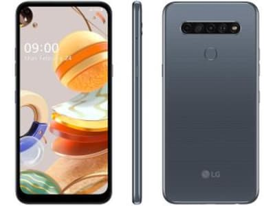 "Smartphone LG K61 128GB Titânio 4G Octa-Core - 4GB RAM 6,53"" Câm. Quádrupla + Selfie 16MP - Magazine Ofertaesperta"