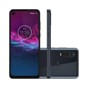 "Smartphone Motorola One Action 128GB Azul Denim 4G Tela 6.3"" Câmera Tripla 16MP Selfie 12MP Android 9.0 Pie"