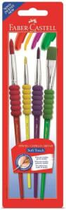 Pincel Soft Touch 4 Unidades, Faber-Castell