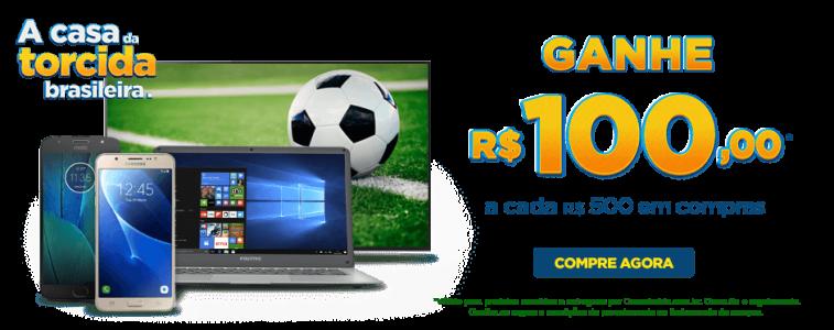 GANHE R$ 100,00 A CADA R$ 500 EM COMPRAS NAS CASAS BAHIA!!!