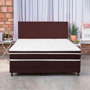 Cama Box Colchão Casal Pillow Top Mola Ensacada e Espuma Selada Confort 138x188x79cm - Bf Colchões