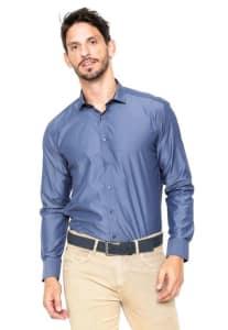 Camisa Vivacci Gravataria Azul