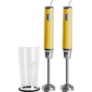 Kit - 2 Mixers 250W Amarelo 127V + 2 Copos 800 ml - Fun Kitchen