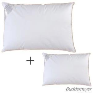 02 Travesseiros Toque de Pluma Branco – Buddemeyer - 4BCJ13430BCO01