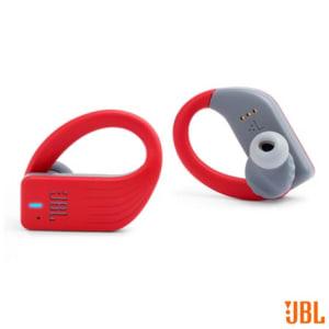 Fone de Ouvido sem Fio JBL Endurance Peak Intra-auricular Vermelho e Cinza - JBLENDURPEAKRED