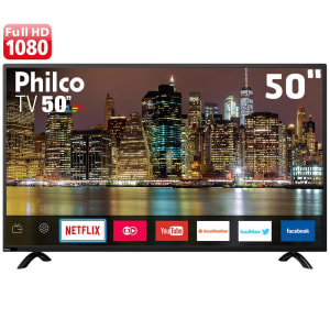 """Smart TV LED 50"""" Full HD Philco PTV50E60SN com Netflix, Midiacast, Dolby Audio, Processador Dual Core, HDMI e USB"""