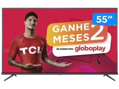 "Smart TV 4K LED 55"" SEMP TCL 55P8M Android Wi-Fi - Bluetooth HDR Inteligência Artificial 3 HDMI 2 USB - Magazine Ofertaesperta"