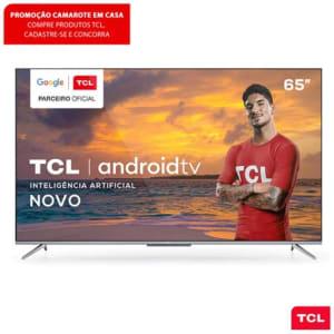 "Smart TV TCL LED Ultra HD 4K 65"" Android TV com Google Assistant, Borda Ultrafina e Wi-Fi - 65P715"