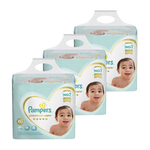 Kit de Fraldas Pampers XG Premium Care Jumbo - 180 Unidades