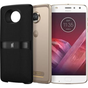 "Smartphone Motorola Moto Z2 Play New Sound Edition Dual Chip Tela 5.5"" Android 7.1 Nougat Octa-Core 2.2 GHz (Snapdragon 626) 64GB 4G Wi-Fi Câmera 12MP - Ouro"