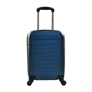Mala de Viagem Rígida de Bordo Rodinhas com Cadeado Embutido com Giro 360° Yins Azul YS21025A