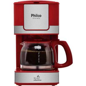 Cafeteira Elétrica Philco PH16 Inox 600ml - Vermelha (Cód. 122578783)