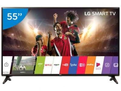 "Smart TV LED 55"" LG Full HD 55LJ5550 WebOS - Conversor Digital Wi-Fi 2 HDMI 1 USB - Magazine Ofertaesperta"