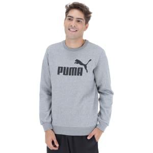 Blusão de Moletom Puma Ess Logo Crew Sweat FL Big Logo - Masculino