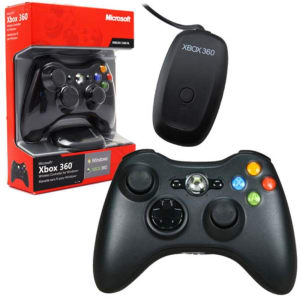 Controle Xbox 360 Sem Fio Com Adaptador Wireless Para PC - Microsoft