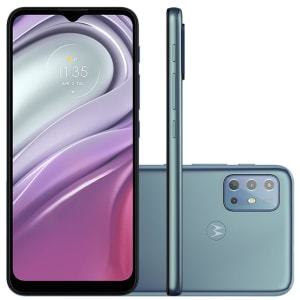Smartphone Motorola G20 64GB, 4GB RAM, Octa-Core, Câmera Tripla, 5000mAh, Breeze Blue - PANG0000BR