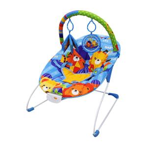 Cadeira De Descanso Musical E Vibratória Dican Para Crianças Até 11Kg Reis Da Selva Colorido Dican