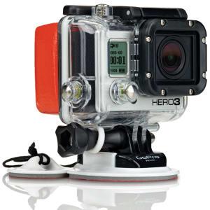 Flutuador p/ Câmera GoPro - Laranja e Preto