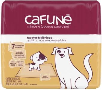 10 Pacotes de Tapete Higiênico Cafuné Slim - 30 Unidades cada