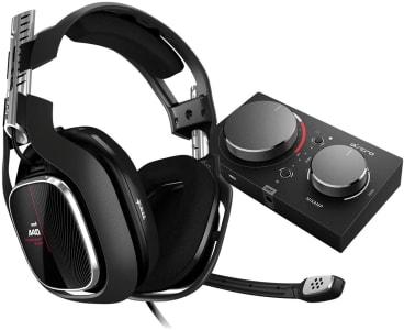 Headset ASTRO Gaming A40 TR + MixAmp Pro TR Gen 4 com Áudio Dolby para Xbox Series, Xbox One, PC, Mac - Preto/Vermelho