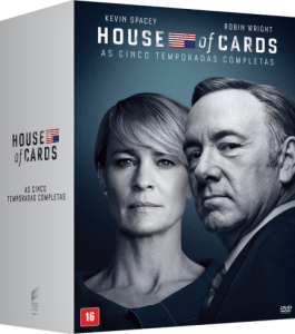 DVD House Of Cards - 1ª A 5ª Temporada - 20 Discos
