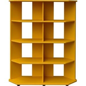 Estante Livreiro Twist Organizador Canto Amarelo - Orb