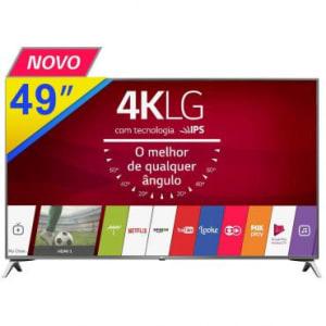 """SMART TV LED 49"""" LG, Full HD, 4K com Conversor Digital e Wifi Integrado, 20W RMS, Entradas: 4 HDMI e 2 USB - 49UJ6565"""