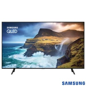 "Smart TV 4K UHD Samsung QLED 55"" com Pontos Quânticos, Direct Full Array 4x, HDR1000 e Wi-Fi - QN55Q70RAGXZD"