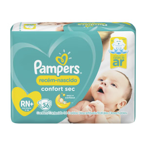 Fraldas Pampers Recém-Nascido Confort Sec RN+ 36 Unidades