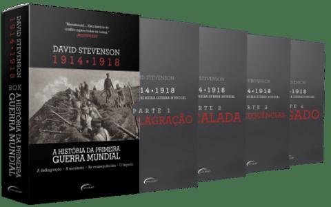 Box - A História da Primeira Guerra  Mundial - 1914-1918 - 4 Volumes