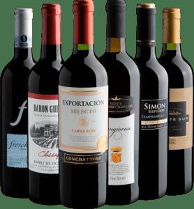 Kit 6 Vinhos por R$199,90 + Frete Grátis