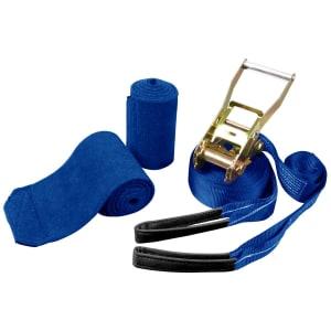 Slackline Kikos 15 m x 5 cm - Azul e Preto