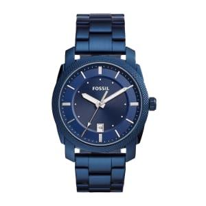 Relógio Fossil Machine Masculino Azul Analógico FS5231/1AN