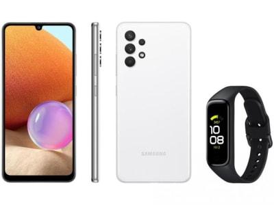 Smartphone Samsung Galaxy A32 128GB Branco 4G - 4GB RAM + Smartband Galaxy Fit2 Preto - Magazine Ofertaesperta
