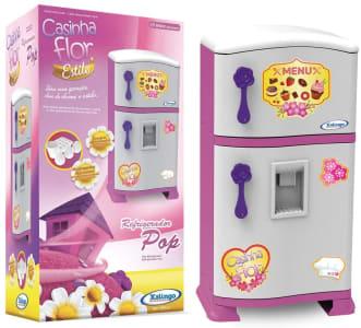 Refrigerador Pop Casinha Flor Xalingo Rosa/Branco