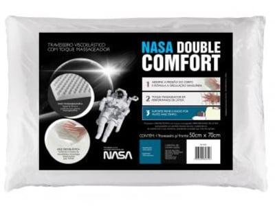 Travesseiro com Espuma Viscoelástica - Fibrasca NASA Double Comfort - Magazine Ofertaesperta