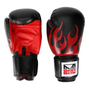 Luva de Boxe/Muay Thai Bad Boy 10 OZ - Preto e Vermelho